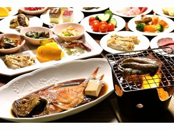 【お一人様熱海満喫プラン】【貸切風呂利用無料】 夕食は豪華海の幸金目鯛の姿煮&アワビの踊り焼き♪