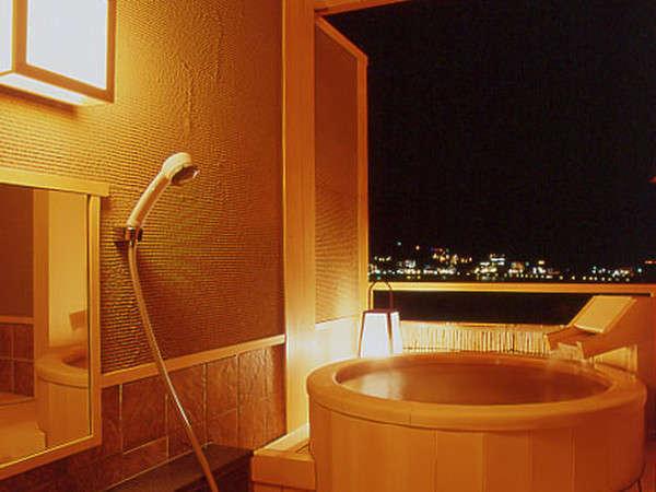 客室露天風呂『檜』