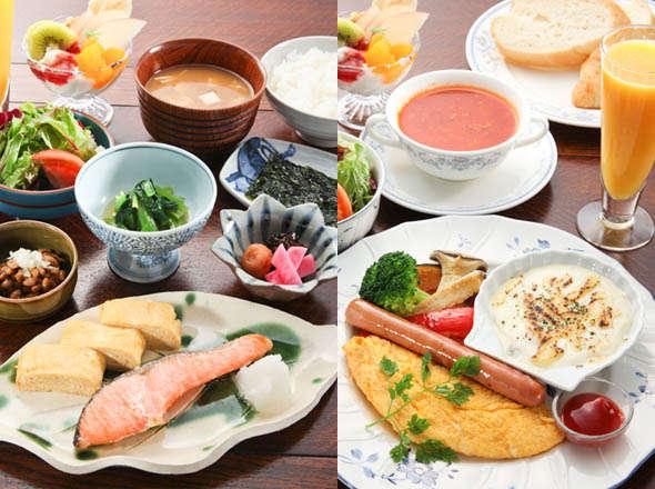 朝食は洋食か和食お選び頂けます。