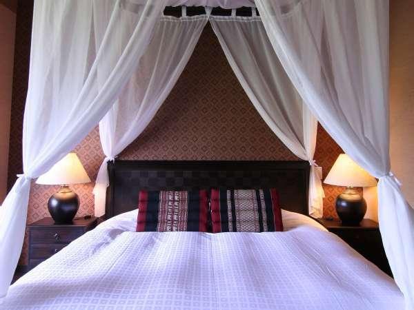 天蓋ベッド 180cm幅ベッドでお姫様気分♪*写真は「アジアンルーム天蓋ベッドタイプ」のイメージ