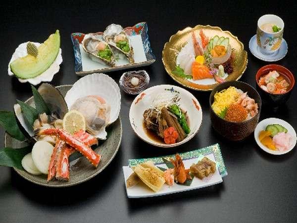 ☆和食膳☆ オホーツク産魚介をふんだんに使用した料理長自慢の和食膳!※イメージ