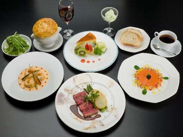 ☆洋食コース☆牛フィレ肉のステーキや帆立貝のクリーム煮などのコース料理。※イメージ