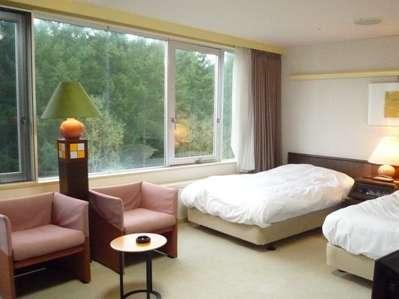 ★37平米と広めのツインルーム★大きな窓一面に広がる景色をご堪能ください♪
