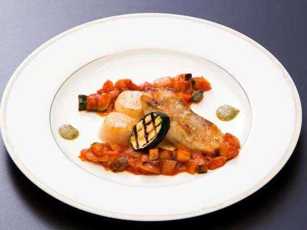 ◆ご夕食<洋食コース/肴> 青ソイと帆立のソテー