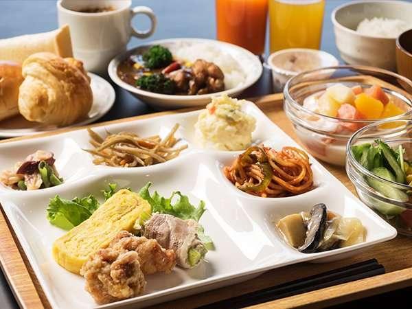 ☆朝食バイキング☆盛り付けイメージ♪お好きなものをお好きなだけ召し上がってください☆