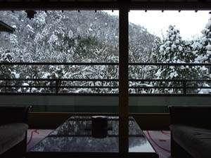 お部屋から望む冬景色。