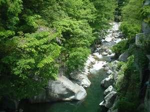 目の前の一之橋から見下ろした笛吹川