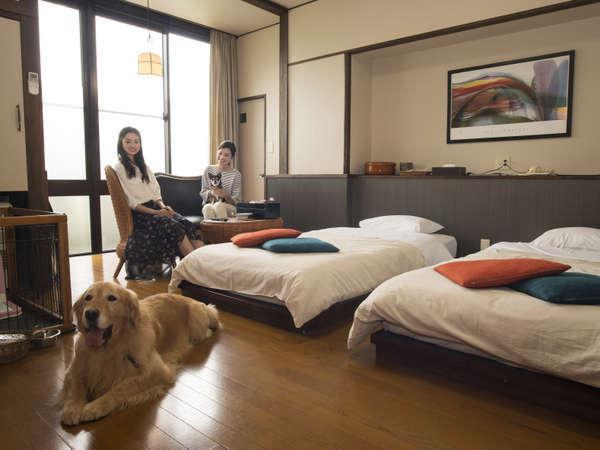 【ペット(犬)とお泊り】ビジネスや帰省にも★シンプルに素泊まりプラン♪レイトインOK!