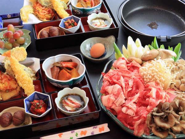 夕食一例★地元食材を使用した手作り料理をご賞味下さい!