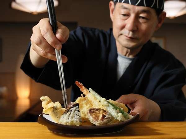揚げたて天ぷらを堪能♪