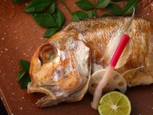 柔らかい肉質で上品な味わい 萩名物☆甘鯛塩焼プラン