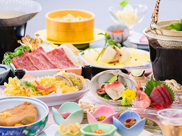 【夕食膳_彩(いろどり)2019年:秋一例】お料理の内容は季節により変更となります。