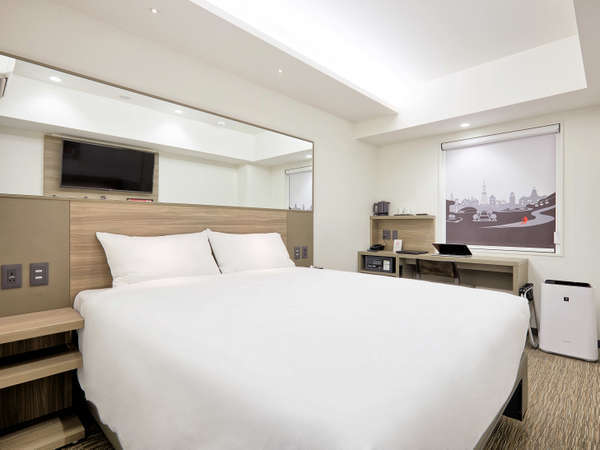【ダブルルーム】2~9F・16㎡・ダブルベッド152cm幅1台・お子様との添い寝におすすめです