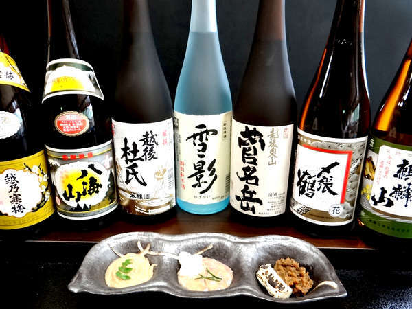 【新潟味自慢】<すし会席>+選べる銘酒!地酒も肴も味わえる贅沢を