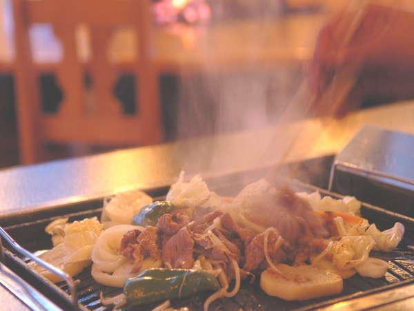 ご夕食に北海道名物ジンギスカン