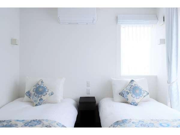 ツインスタジオ:エアコン・IHキッチン・バスルーム・Wi-Fi完備