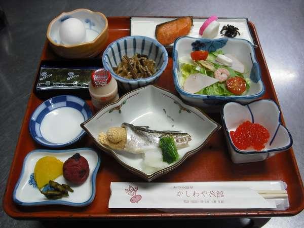 """素材の良さを生かした、""""和""""の朝食。*一例。"""