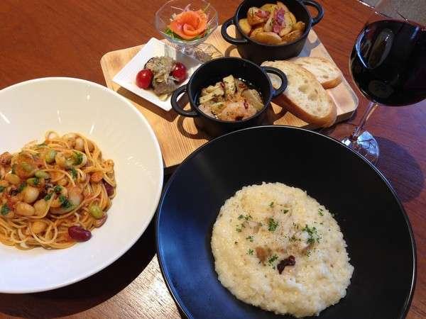 【パスタorリゾット選べる夕食付】エスタチーボで優雅なディナーを♪一泊二食付プラン