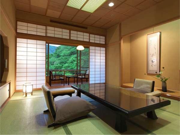 【ジュニアスイート】眺望の良い最上階のツインベット付和洋室