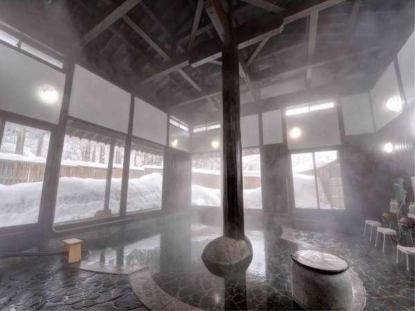 *【温泉(大浴場)】肌がすべすべになる祭畤温泉にゆっくり浸かってください