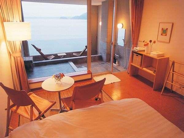 4階【ツインナチュラルタイプ】海がみえる露天付客室