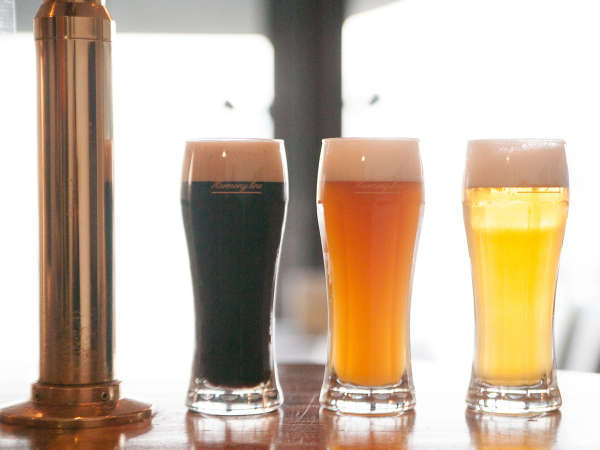 パムコ館主謹製!自家ブルワリープラントで醸造した3種の地ビールを飲み比べてみて♪
