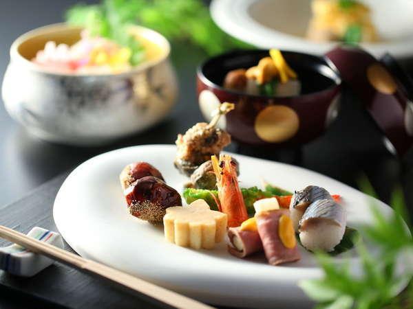≪創作和食会席イメージ≫季節替わりの献立で、旬の味覚をお楽しみください。