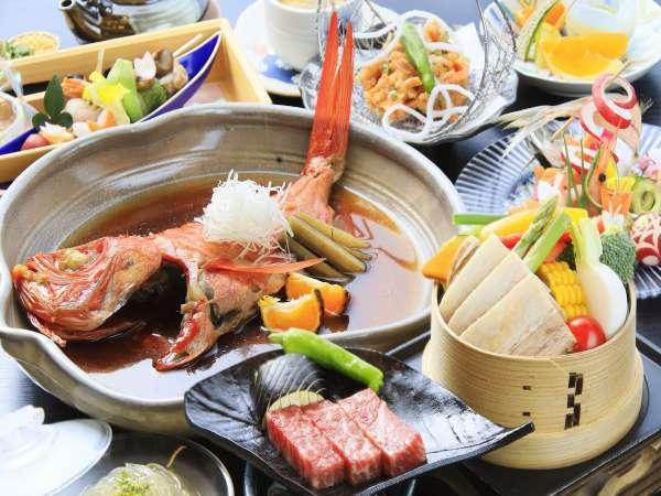 【当館人気No1】メインは金目鯛の熱海煮!牛ステーキ&ホエー豚のセイロ蒸しも♪<スタンダード>