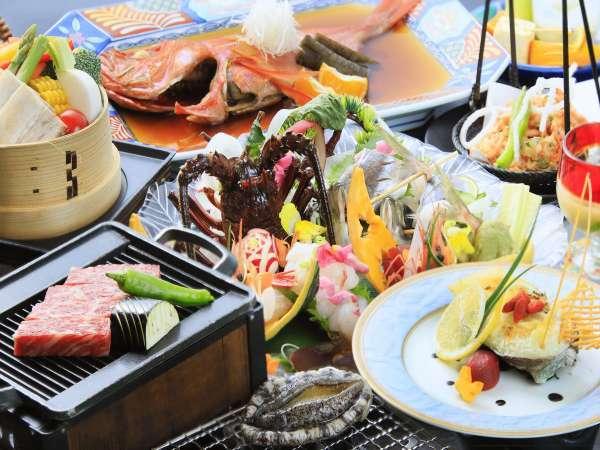 【料理グレードアップ】伊勢海老のお造りなど・贅沢食材を使用した豪華会席!