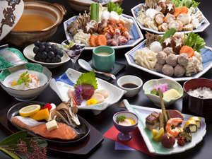冬はやっぱり鍋!「冬のなごみ膳」とくとくプランでは鍋を中心としたボリュームあるお膳になっています♪