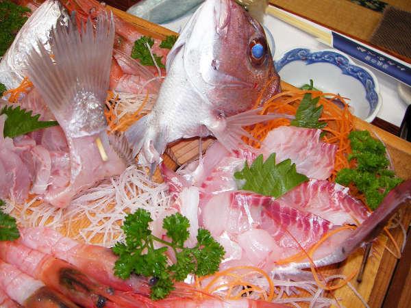 【舟盛り】置網で捕れたピチピチの魚をどーんと豪快に盛り付けました