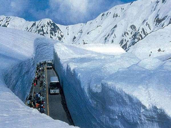雪の大谷パノラマ絶景