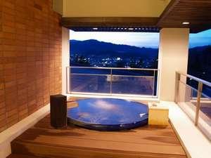 夜景も眺められる貸切露天風呂『和みの湯』(チェックイン時要ご予約・有料)