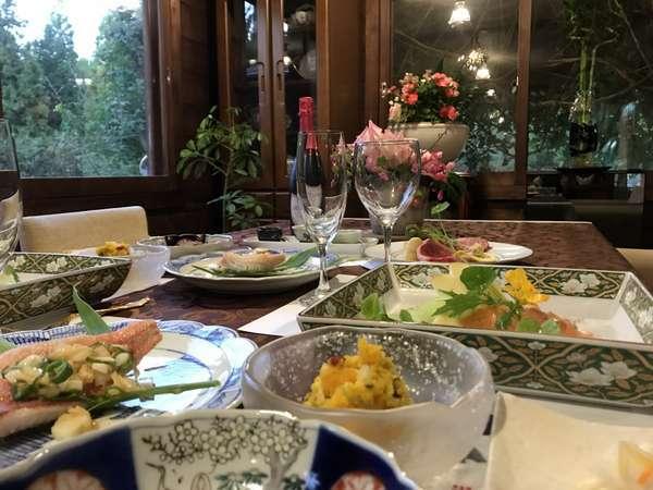 ある日のディナー(ステーキプラン)一例