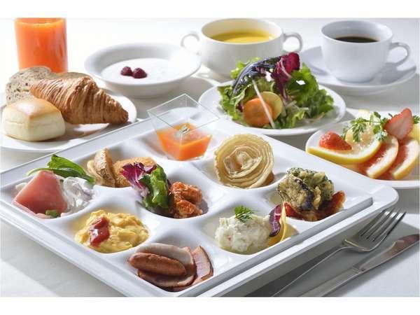 【北海道朝食バイキング】盛付例:洋食中心の場合