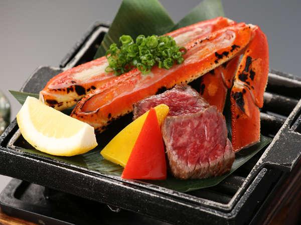 【夕広間食】旨みたっぷりのズワイ蟹「茹で+焼き+なべ」絶品の蟹会席でカニ旅行プラン♪