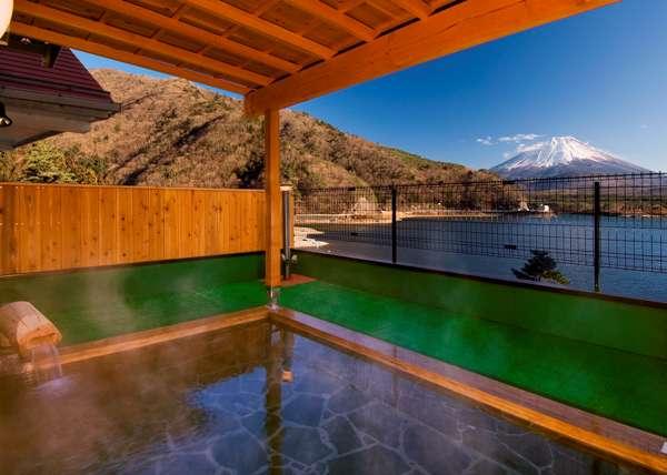 精進湖からの名景「子抱き富士」を眺めながら上九の湯でほっこり♪