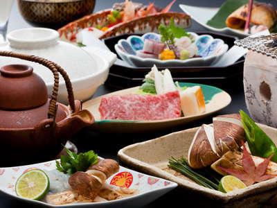 松茸を十分に楽しめる懐石料理