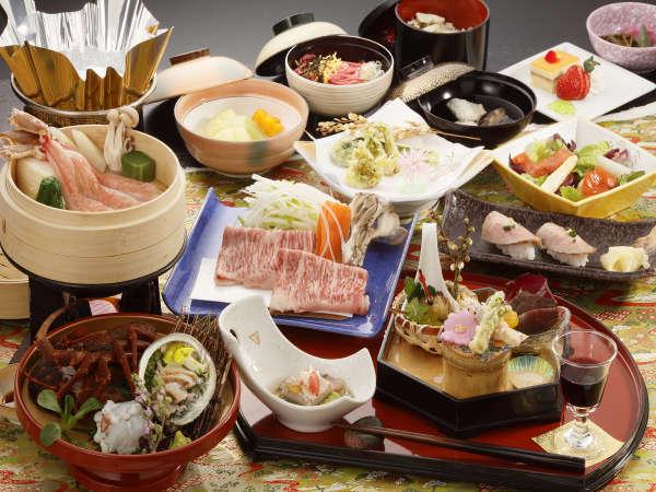 【旅の楽しみはやっぱり料理】前沢牛・伊勢海老・あわび・ズワイガニの豪華和食膳プラン