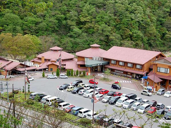 【外観】当館はカフェ、パン屋、売店、レストラン…等 色んな施設を併設しております。