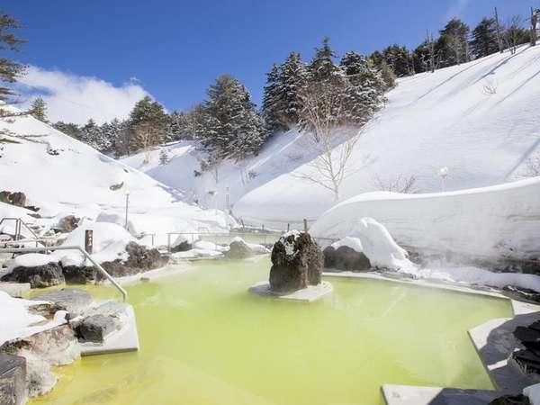 雪の石庭露天風呂