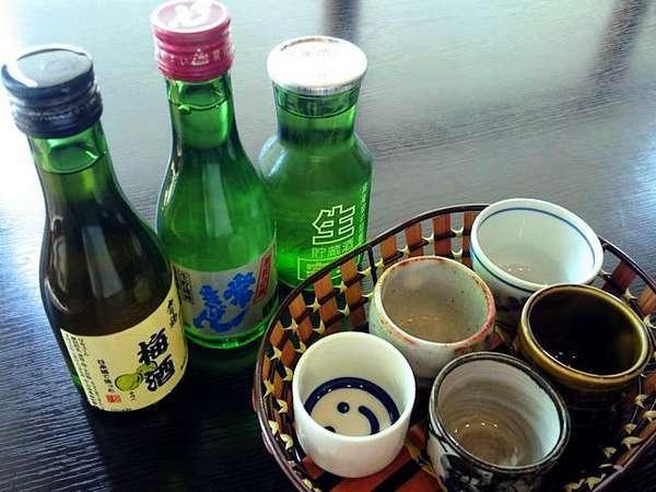 【日本酒3種を飲み比べ】加賀の地酒を味わう大人旅〜お手頃コースプラン〜