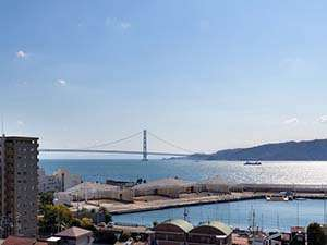 明石海峡大橋  お昼