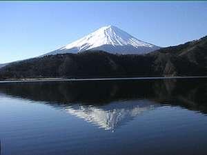 宿から見える富士山です