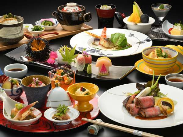 基本料理「優美」牛肉と旬の魚ダブルメイン※2021年夏イメージ写真
