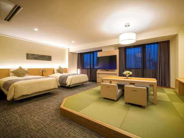 【2018年改装★和洋室】明るく清潔感のあるお部屋。ホテルで最も広い特別室でゆっくりとした滞在を♪