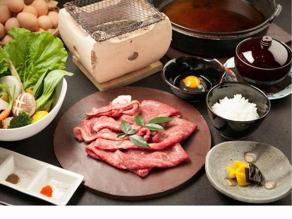 【土佐黒毛和牛プラン】20種以上の山野菜とともに 土佐和牛のすき焼き
