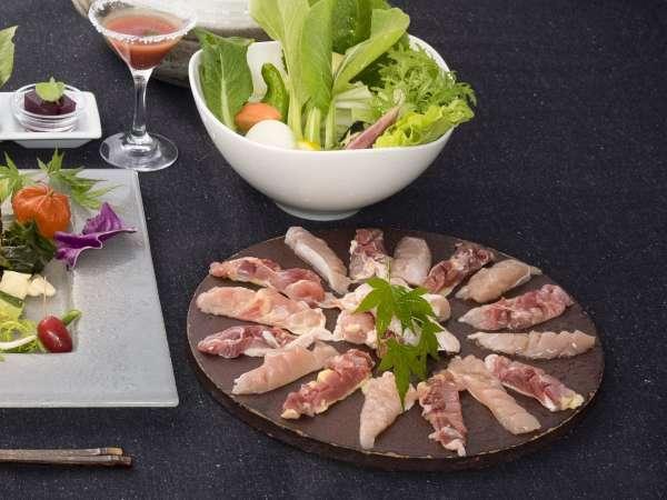 【土佐の地鶏プラン】季節野菜と体にやさしい塩鍋