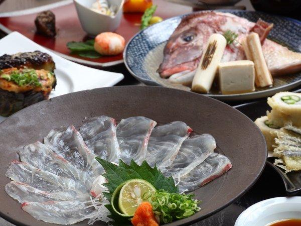 「鯛の薄造りとかぶと煮」♪源泉100%かけ流し☆★古湯で味わう瀬戸内の恵み♪スタンダードプラン