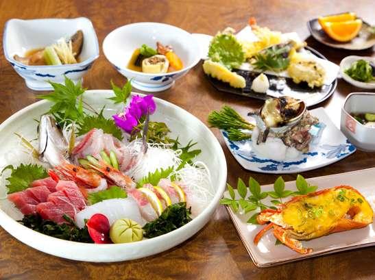 【海鮮づくしプラン】焼き伊勢海老+貝料理1品追加☆《2食付》